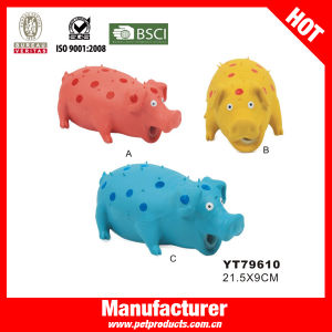 Popular Pig Shape Latex Squeaky Dog Toy (YT79610) pictures & photos