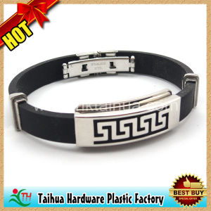 Custom Metal Silicone Bracelet (TH-mt006) pictures & photos