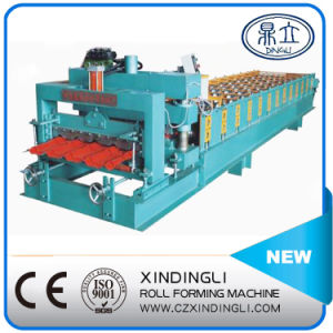 Automatic Hydraulic Step Making Glazed Roof Sheet Roll Forming Machine pictures & photos