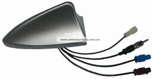 Shark Fin Shape Silver Combined Active Car Antenna pictures & photos