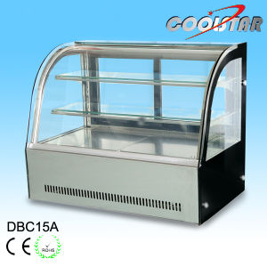Commercial Tempered Glass Stainless Steel Cake Refrigerating Showcase pictures & photos