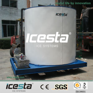 Icesta Factory CE Easy Install Large Flake Ice Machine Evaporator pictures & photos