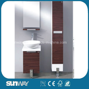 Hot Sale Melamine Bathroom Vanity with Side Cabinet (SW-ML1201) pictures & photos
