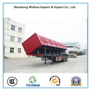 3 Axles Side Dumper Trailer for Cargo Transportation From Supplier pictures & photos