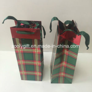 UV Design Customize Printing Wine Bottle Paper Gift Packing Bag pictures & photos