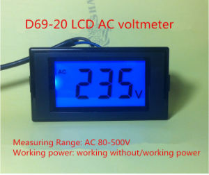 D69-20 Series High Quality LCD AC Voltmeter pictures & photos