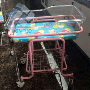 Factory Low Price Hospital Baby Bed Flat Iron Children′s Care Beds pictures & photos