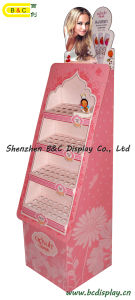 Fashion Creative for Lady Lipstick Floor Cardboard Display Stand with SGS (B&C-A002) pictures & photos