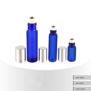 3ml 5ml 10ml Roll on Blue Cosmetic Serum Bottle, Glass Cosmetic Bottle, Cosmetic Bottle
