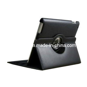 for iPad 2/3/4 360 Degree Rotating PU Leather Case pictures & photos