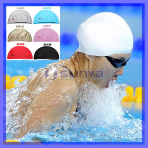 Beige / Colorful Durable Stylish Sporty Latex Swimming Cap Hat pictures & photos