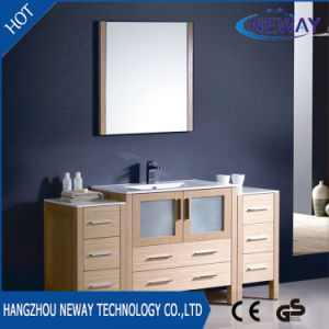 High Quality Floor Standing Melamine Modern Bathroom Furniture pictures & photos