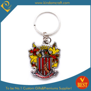 Custom Printed Steel Keyring with Castle Logo pictures & photos