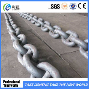 China Painted Black Stud Link Anchor Chain pictures & photos