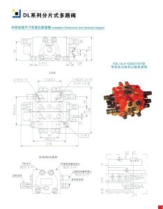 Hydraulic Control Sectional 2 Spool Valve Sauer Danfoss Excavator pictures & photos