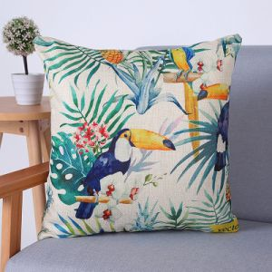 Digital Print Decorative Cushion/Pillow with Birds&Peacock Pattern (MX-69) pictures & photos