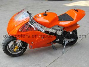 2016 New Style Orange 49cc Mini Pocket Bike (YC-8001) pictures & photos