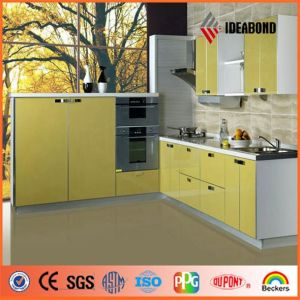 New Design Kitchen Cabinet Yellow PE Aluminium Coposite Panel (AE-108) pictures & photos