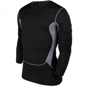 Men′s Tights Long Sleeves Pure Color Sport Dress