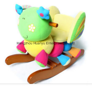 Factory Supply Wooden Rocking Animal-Butterfly Rocker with Safeguard pictures & photos