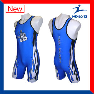 Any Logo Pattern Design Your Own Wrestling Singlets pictures & photos