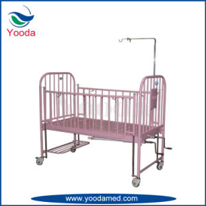 High Side Rail Two Crank Manual Hospital Bed for Children pictures & photos