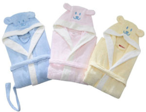 100% Bamboo Fibre Cute Bathrobe for Children pictures & photos