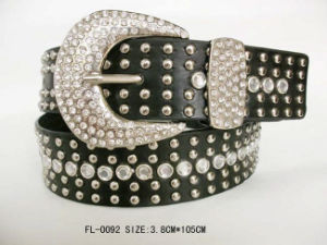 Studded Belt with Rhinestone Fl-0092 pictures & photos