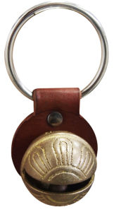 Sleigh Bell with Leather Strap and Keyring Attached dB1-H040sr