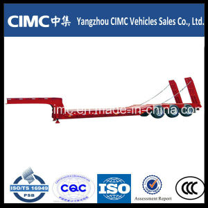 Cimc Low Bed Truck Semi-Trailer for Excavator Trasnsportation pictures & photos