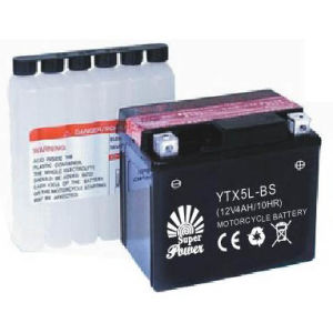Dry Charged Motorcycle Battery 12V 5AH in well starting performance with CE UL certificate called YTX5L-BS pictures & photos