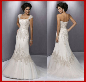 Beading Wedding Dress Vestidos Tulle Wedding Gowns Ld11518 pictures & photos