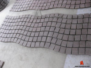 Seawave Shape Red Porphyry Cobblestone for Garden and Landscape pictures & photos