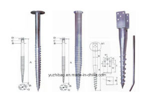 Hot Dipped Galvanized Ground Anchor, Earth Auger, Ground Screw pictures & photos