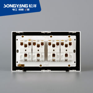 PC White Series 8gang Wall Switch pictures & photos