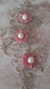 New Garment Accessories Embroidery Flower with Pearl pictures & photos
