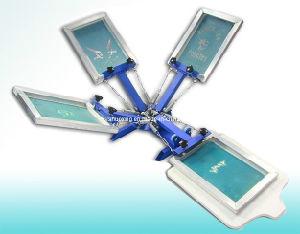 4 Color 1 Station Silk Screen Printing Press, Manual Screen Printer pictures & photos
