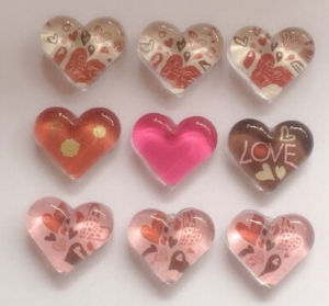 Custom Heart Shape Polyresin Fridge Magnet for Promotional Gift pictures & photos