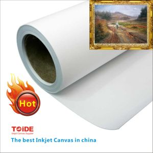 High Quality Solvent Printable Poly Cotton Canvas 350GSM pictures & photos