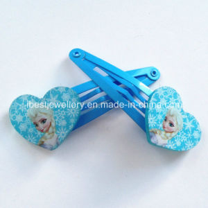 Frozen Else Kids Hair Clips -Plastic Heart Printing Logo Snap Clips Sets