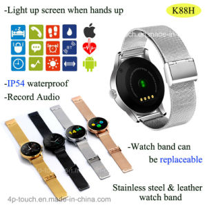 Mtk2502c Bluetooth Smart Watch Phone for Android &Ios (K88H) pictures & photos