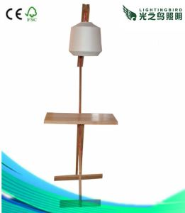 High Quality Modern Natural Wood Floor Lamp Lighting with Lamp Shade (LBMD-JM)