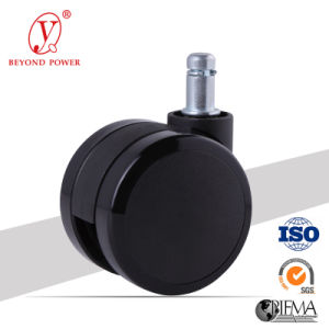 60mm PVC Office Chair Castor Rollen Furniture Twins Swivel Castor Wheel Cabinet Caster pictures & photos
