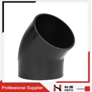 Metric Pipe HDPE High Quality Socket 45 Degree Elbow Manufacturer pictures & photos