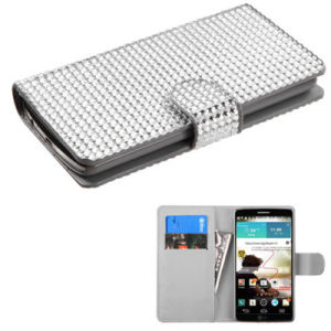 Diamond Flip Cover Cover Wallet Case for LG G3 Silver pictures & photos