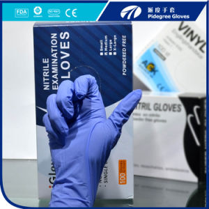 Disposable Nitrile Examination Gloves with Ngbl-Pfm3.0 pictures & photos