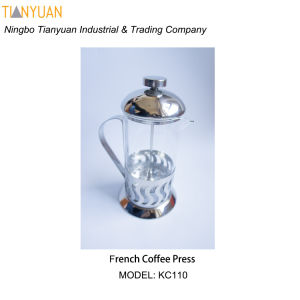 Stainless Steel French Press /Large Stainless Steel Glass Cafetiere French Filter Modern Coffee and Tea Press Plunger