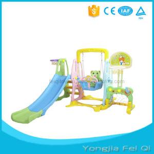 Kid Playground Indoor Plastic Kid Slide, Swing, Basketball Stand, Football Door pictures & photos