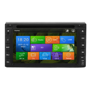Wince 6.0 Quad Core 2 DIN Capacitive Touch Screen Car Entertainment with Bt iPod 3G Vmcd FM Am for