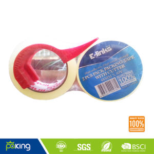 Two Rolls Transparent BOPP Packing Tape with Dispenser pictures & photos
